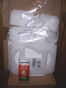 Verpackung und Kaffee