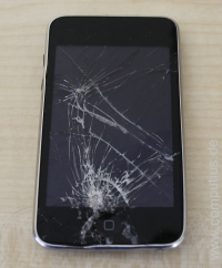 iPod Touch mit gebrochenem Display