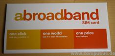 abroadband SIM-Karte Verpackung