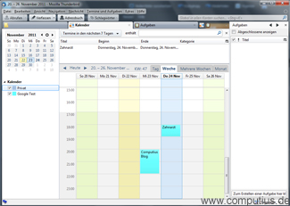 Lightning Kalender in Mozilla Thunderbird