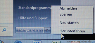 Windows 7 Starter - Herunterfahren