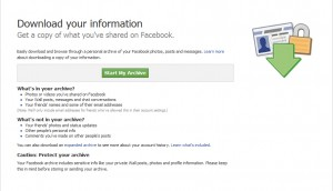 Die Facebook Downloadseite