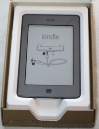 Der Kindle Touch in seiner Verpackung
