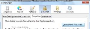 Mozilla Thunderbird - Gespeicherte Passwörter