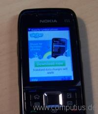 Skype für Symbian - nach Empfang der SMS