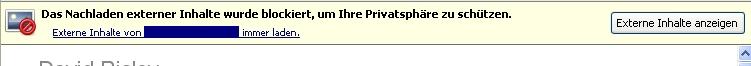 Mozilla Thunderbird hat die Bilder blockiert