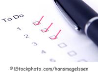 Eine Todo-Liste - ©iStockphoto.com/hansmagelssen