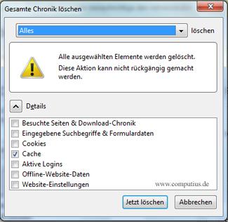 Firefox Chronik löschen